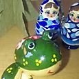 ロシアの木製カエル
